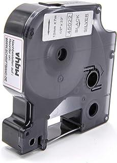 5000 vhbw Tubo Termorestringente Cassetta Nastro 12 mm per Stampante Dymo RhinoPro 3000 6000 come Dymo 18055.