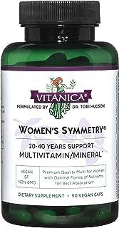 Vitanica Women's Symmetry, High Potency Multivitamin and Mineral, Vegan, 90 Capsules