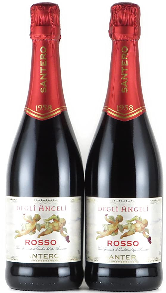 異形拷問あたたかいサンテロ 天使のロッソ 750ml×2本 赤ワイン 甘口 スパークリングワイン