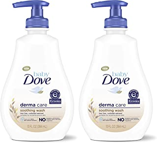 Dove Soothing Baby Body Wash To Soothe Delicate Baby Skin Derma Care No Artificial Perfume or Color, Paraben Free, Phthalate Free 13 oz 2 Count