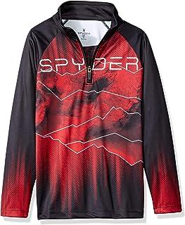 Spyder Boys' Limitless Rising Half Zip T-Neck Camisetas atléticas para Niños