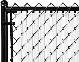 6ft White Tube Slats® for Chain Link Fence