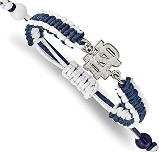 LogoArt University of Notre Dame Stainless Steel Color Bracelet