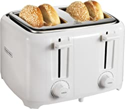 Proctor Silex 24216 Toaster with Wide Slots & Toast Boost, 4-Slice, White