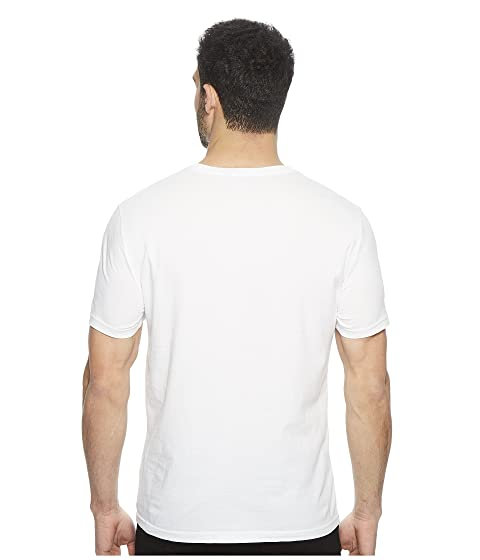 Jeans Neck Calvin Wash Klein Crew Logo Tee Vertical A856Pq5nw