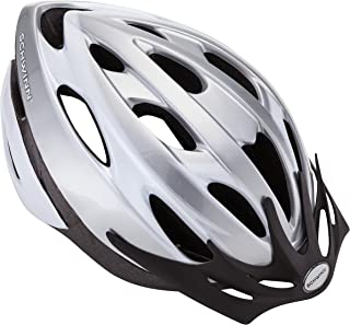 Schwinn Thrasher Lightweight Microshell Bicycle Helmet with Rear Tail Light for Higher Visibility Biking, Featuring 360 Degree Comfort System with Dial-Fit Adjustment, for Men and Women