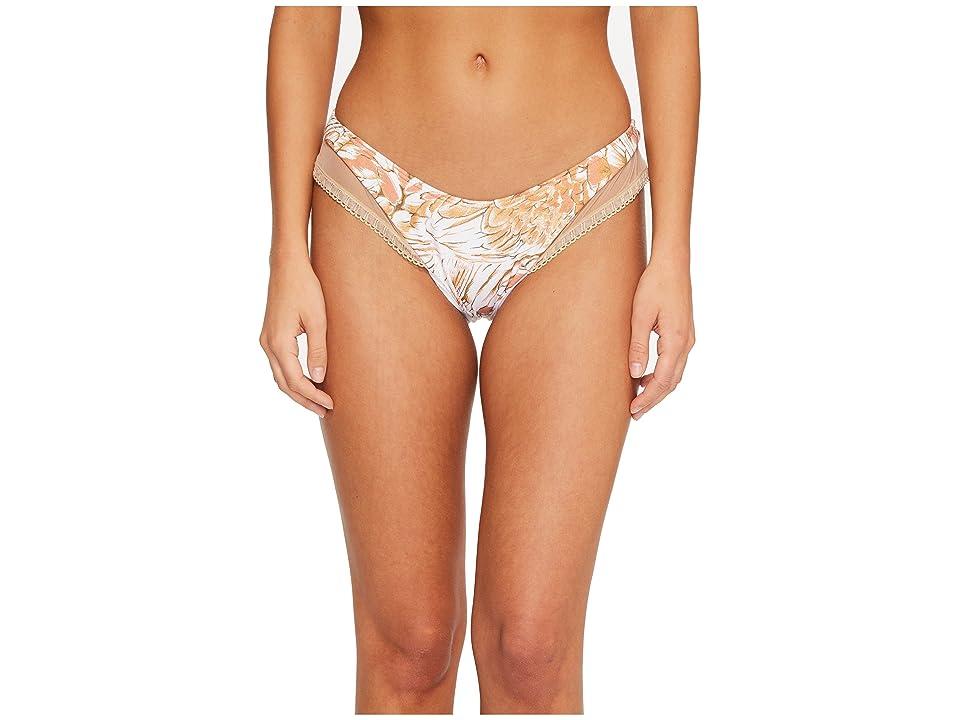 Luli Fama Amor Tobaco Y Ron Mesh High Leg Brazilian Bikini Bottom (Rose Gold) Women