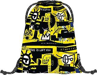 baagl Gymtas voor jongens en meisjes, sporttas voor jongens, kinderen, tieners, school- en sportschoenenzak, sporttas met ...