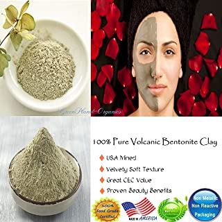 : Bentonite Clay 2 LBS (100% Pure Volcanic & USA Mined) Finely Powdered & Sifted. Super Soft & Non Abrasive. Contains A Variety Of Earth Minerals