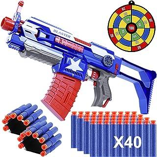 Blaster Guns Toy Guns, Automatic Toy Sniper Rifle with 40 Darts, 2 Reload Clips & 2 Hand Wrist Band, Strike Elite Retaliat...