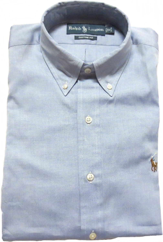 Ralph Lauren Mens Custom Fit Button Up Dress Shirt