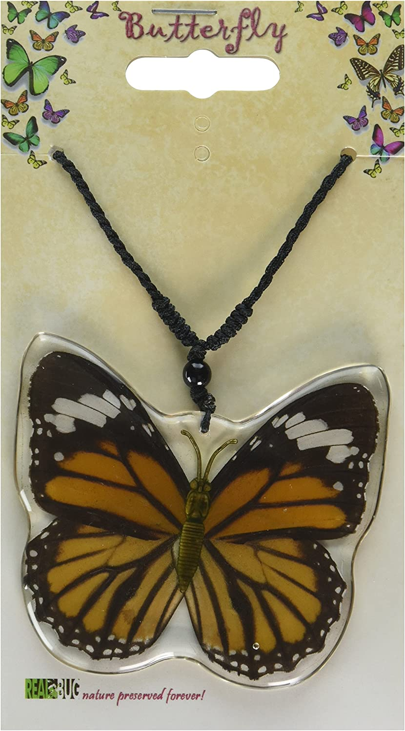 Real Bug BTN110 Common Tiger Butterfly Wing Necklace