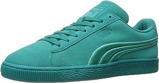 Men's Suede Classic Badge Sneaker,Lapis Blue-Puma Black,9 M US