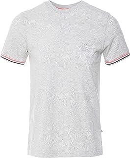 SUNDEK Men's Tipped Cuffs Finn T-Shirt Grey