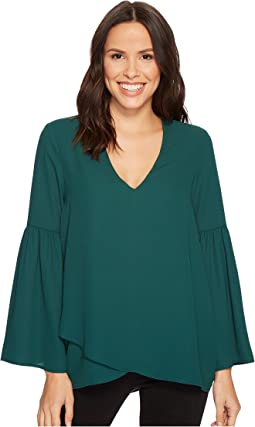 Karen Kane - Crossover Bell Sleeve Top
