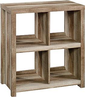 Sauder HomePlus 4-Cube Bookcase, Lintel Oak finish