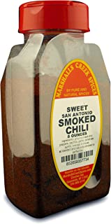 SMOKED SWEET SAN ANTONIO CHILI POWDER FRESHLY PACKED IN LARGE JARS, spices, herbs, seasonings