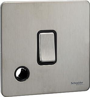 Schneider Electric GU2413BSS interruptor eléctrico Negro - Accesorio cuchillo eléctrico (Negro, IP20, 20 A, 88 mm, 88 mm)