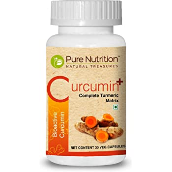 Pure Nutrition Curcumin Plus (New and Improved Backed by Patent Filed PNS Technology) - 30 Capsules