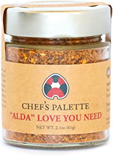 "Chef's Palette ""Alda"" Love You Need Spice Blend – Gourmet Spice Rub for Seasoning Pork or Lamb – Juniper Berry and Orange Zest Flavors - Home Cook Pantry Staple – 4oz Glass jar"