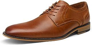 VALYRAIN Men's Dress Shoes Leather Plain Toe Derby Lace...