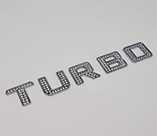 Iced out Turbo Crystal Diamond Chrome Bling Emblem Badge Kit