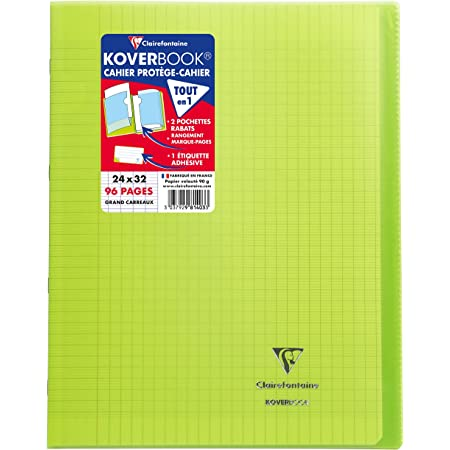 A4+ S/éy/ès 90 g Assorted Colours 60 Sheets Clairefontaine 3371C Staple Bound Notebooks Pack of 1