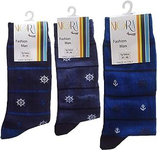 Calcetines cortos para hombre, 3 pares 808 - Calcetín corto de hilo de Escocia de algodón Makò