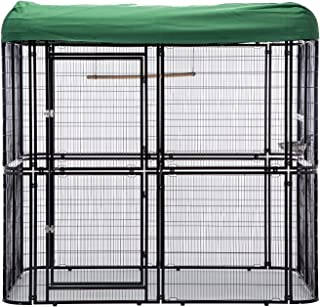 wonline Large Walk in Bird Cage, with Cover Top Parakeet Finch Lovebird Aviary Pet House Heavy Duty