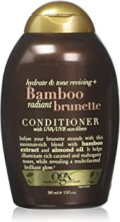 OGX Bamboo Radiant Brunette Conditioner, 13 Ounce Bottle, Hydrate & Revive Color