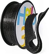 PLA 3D Printer Filament Black, 3D Printing Marble Filament 1.75mm, Glitter Filament Sparkle Shining PLA Material Black, 1KG (2.2lbs) Spool Hello3D