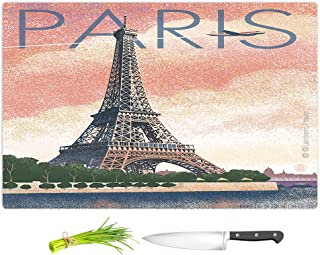 DiaNoche Kitchen Cutting Boards by Lantern Press Eiffel Tower Paris