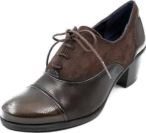 Fluchos Zapato Abotinado Cordones dorking Disponible EN Farbees Burdeos y Café - 6884-65 y 7254-81 (39, Cafe)