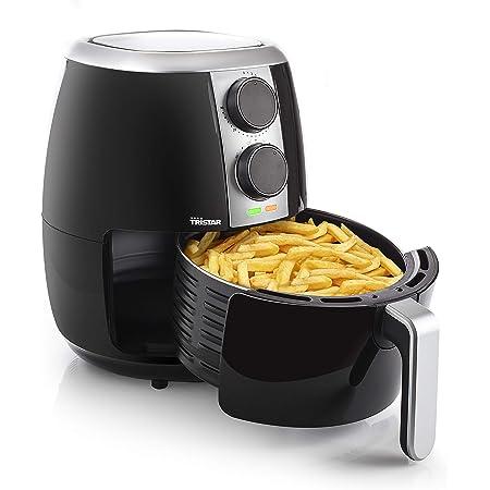 Tristar Friggitrice Ad Aria Calda Crispy Fryer, 1500 W, 3.5 Litri, Timer, Temperatura Regolabile, Acciaio Inossidabile, Nero