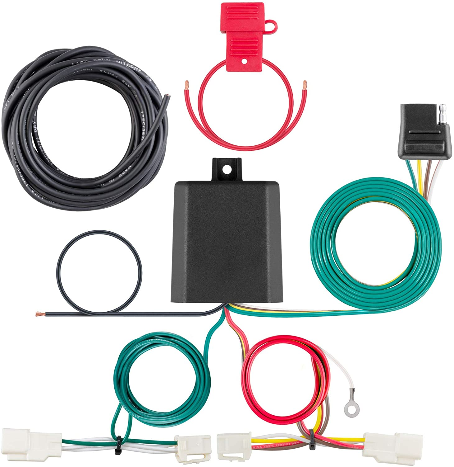CURT 56350 Vehicle-Side Custom 4-Pin Trailer Wiring Harness, Fit