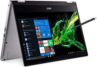"Acer Spin 3 Convertible Laptop, 14"" Full HD IPS Touch, 8th Gen Intel Core i7-8565U, 16GB DDR4, 512GB PCIe NVMe SSD, Backlit KB, Fingerprint Reader, Rechargeable Active Stylus, SP314-53N-77AJ"