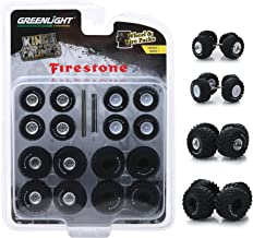 Greenlight 16010A Wheel and Tire Pack - Kings of Crunch Firestone 1:64