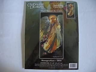 Candamar Designs Mary Baxter St. Clair Embellished Cross Stitch - Messenger of Love (Angel)