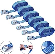 Spanbanden, 6 Stks 3 Meter Gesp Tie-Down Belt Cargo-riemen voor Auto Motorfiets Fiets Trekkabel 250LBS Sterke Ratchet Riem...