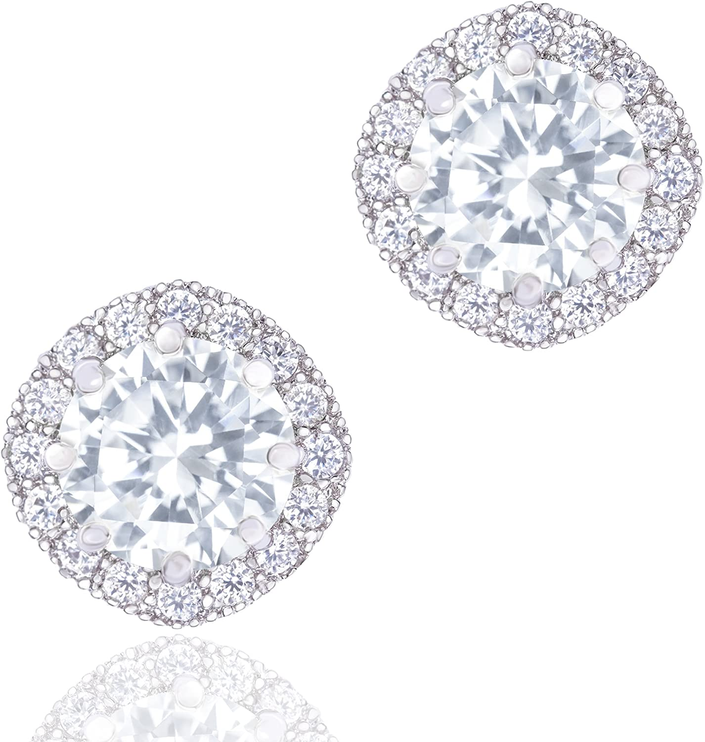 ORROUS CO Special price 18K Gold Plated CZ Earrings Diamond Simulated Stud Limited price f