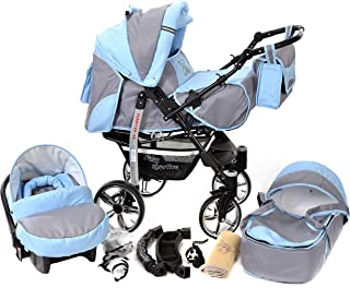 comprar comparacion Sportive X2, 3-in-1 Travel System incl. Baby Pram with Swivel Wheels, Car Seat, Pushchair & Accessories (3-in-1 Travel Sys...