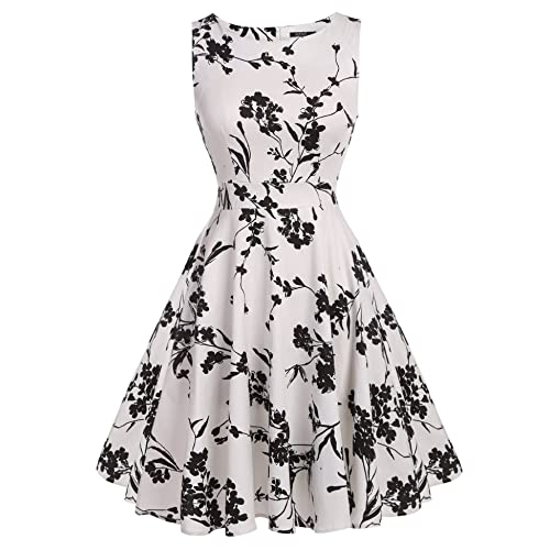 Black and White Floral Dress: Amazon.com