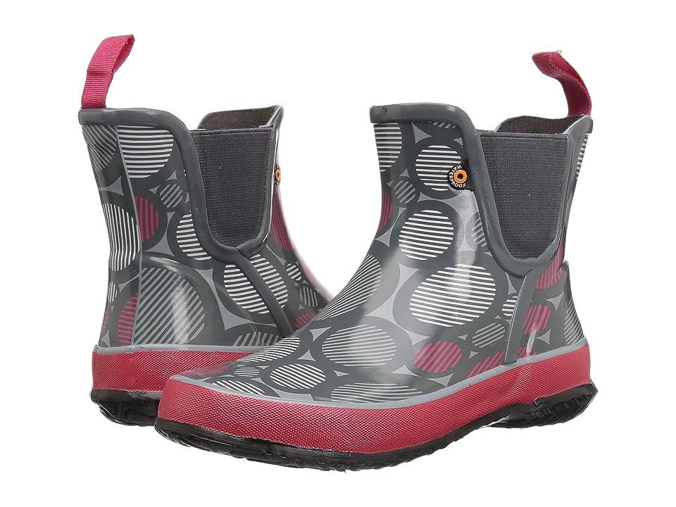 Bogs Kids Amanda Slip-On Dot (Toddler/Little Kid/Big Kid) (Gray Multi) Girls Shoes