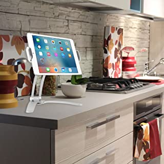 Cellet Kitchen Tablet Mount Stand 2-in-1 Kitchen Wall/Counter Top, Desktop Mount recipe Holder Stand For 7 to 13 Inch Tablet fits 2017 iPad Pro 12.9/9.7/Air/Mini, Surface Pro