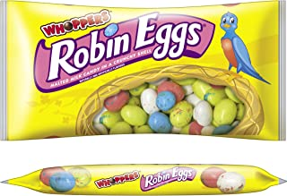 WHOPPERS ROBIN EGGS Candy (Malted Milk Candy in a Crunchy Shell), 10 Ounce Bag (Pack of 8)