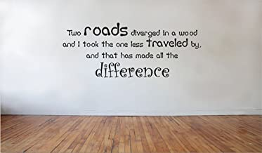 Blinggo Two roads diverged in a wood quilt quilts removable Vinyl Wall Decal Home Dicor