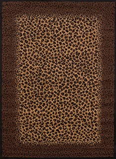 United Weavers of America Legends Collection Leopard Skin Rug, 5'3