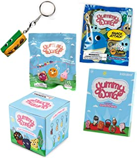 Food Face Sweet Blind Box Keychains Bundled with Yummy-Licious Vinyl Backpack Hanger Blind Bag / Fresh Friends & Snack Attack + Enamel Pin Series 4 Fun Items & Bonus Key Chain