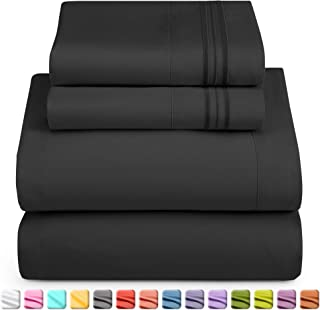 Nestl Luxury Queen Sheet Set – 4 Piece Extra Soft 1800 Microfiber-Deep Pocket Bed..