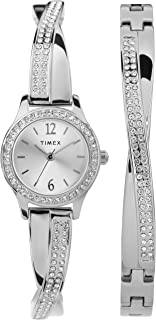 Women's Dress Analog 23mm Watch & Bracelet Set with Swarovski Crystals